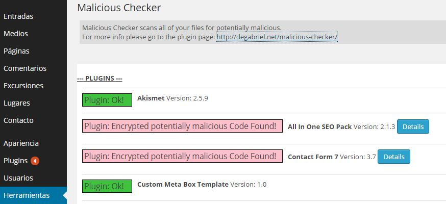 Malicious Checker scans all of your files for potentially malicious